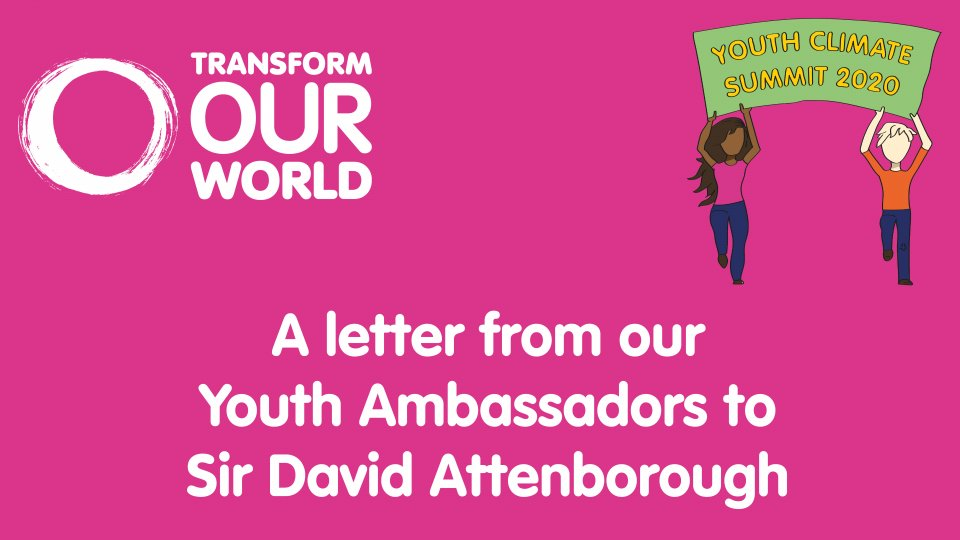 Youth Climate Summit Ambassador letter to Sir David Attenborough