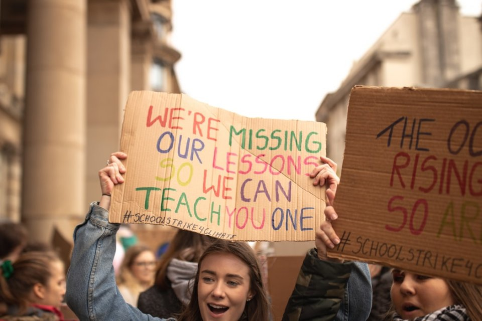 School goes on Curriculum Strike for the Climate